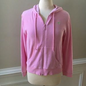 Lilly Pulitzer Terry Cloth Full Zip Hoodie